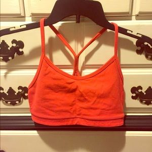 lululemon athletica red sports bra